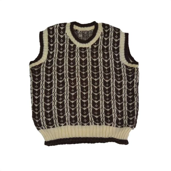 Mouwloze wolle pullover (M)