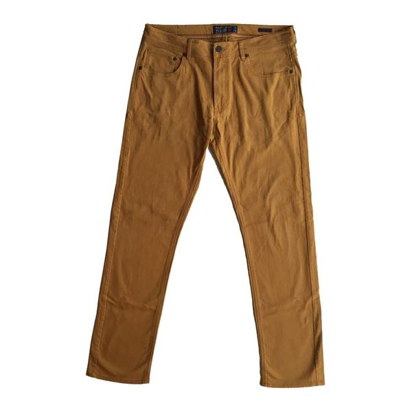 Bruin/gele jeans (W38/L34)