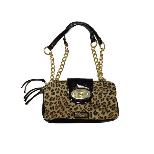 Dames handtas met luipaardprint