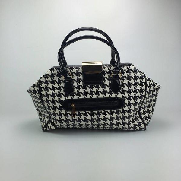 Exclusieve zwart/witte handtas