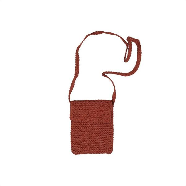 Handgemaakte oranje schoudertasje