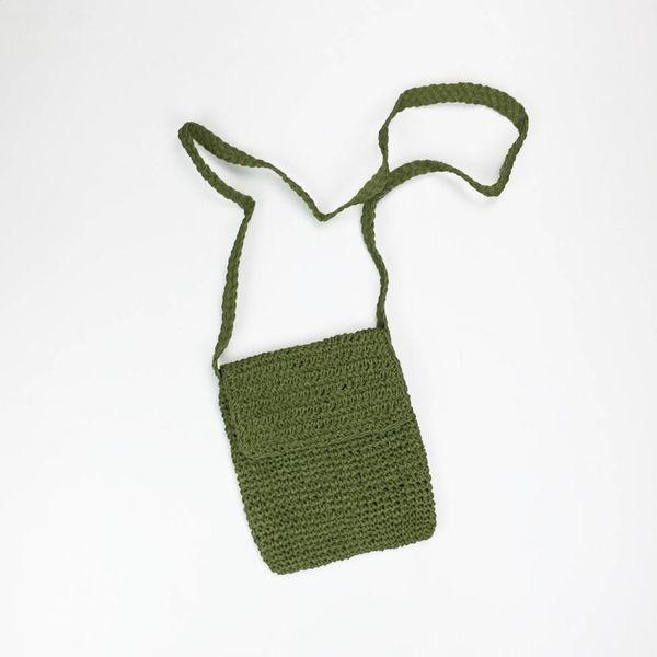 Handgemaakte groen schoudertasje