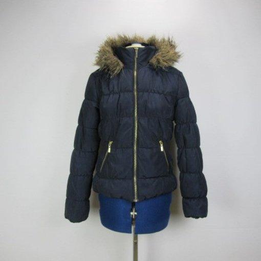 H&M Donkerblauwe jas (34)