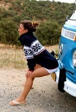 Original South Norweger Pullover 'Estrelas' Blau