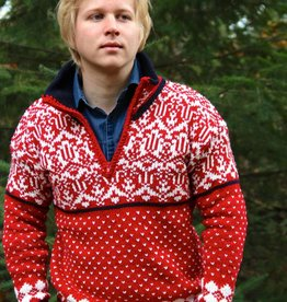 Original South Norwegian Sweater 'Noruega' Red