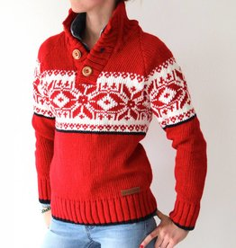 Original South Norwegian Sweater 'Estrelas' Red