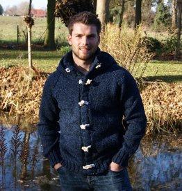 "Wolljacke mit Kapuze in Jeans-Blau ""Pego"""