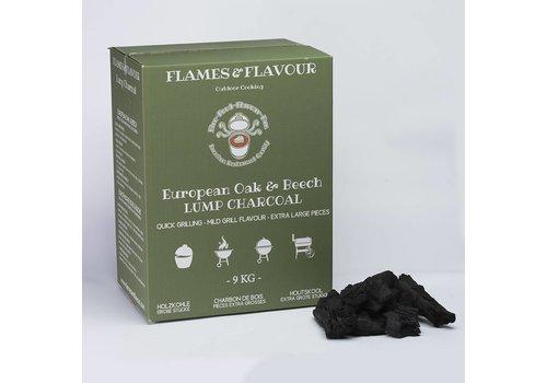 Flames & Flavour Europees Eiken en Beuken Houtskool