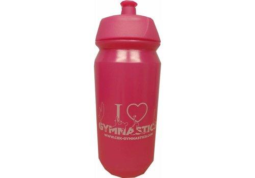 CEK Botella rosada con la impresión