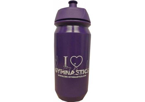 CEK botella púrpura con la impresión