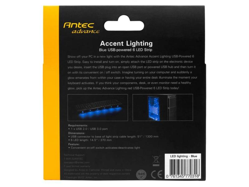 Antec Antec ACCENT LIGHTING BLUE lichtstrip