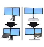 Ergotron Ergotron WorkFit Convert-to-LCD & Laptop Kit from Dual Displays