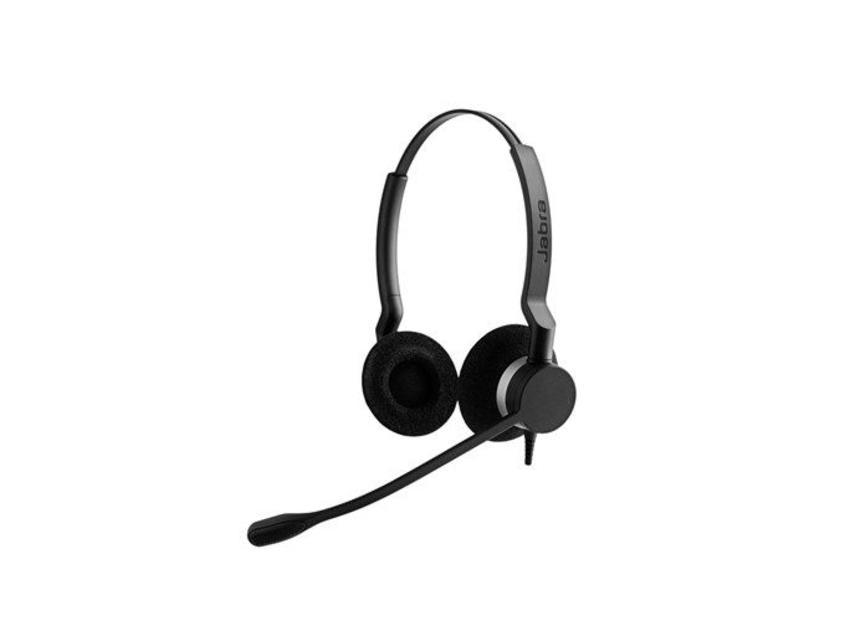 Jabra BIZ 2300 USB Microsoft Lync Duo Monauraal Hoofdband Zwart hoofdtelefoon