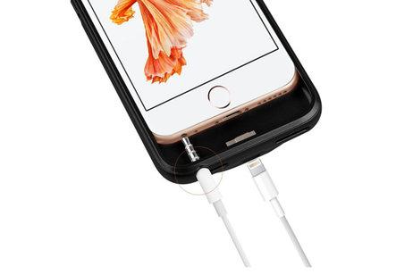 Battery Power Case voor iPhone 6 / 6s / 7 3000 mAh Zwart
