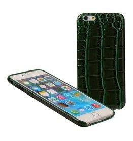 Croco TPU cover voor iPhone 6 / 6S Plus Groen