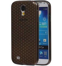 Diamant TPU Hoesjes voor Galaxy S4 i9500 Zwart