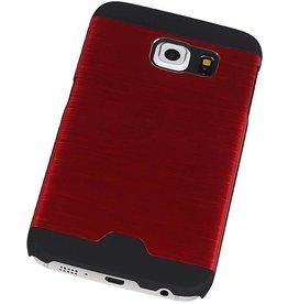 Lichte Aluminium Hardcase voor Galaxy S6 Edge G925F Rood