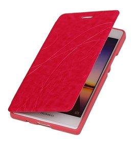 Easy Booktype hoesje voor Huawei Ascend P7 Roze