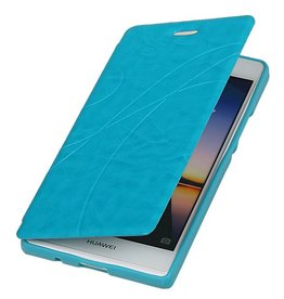 Easy TPU Booktype hoesje voor Huawei Ascend P6 Turquoise