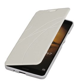 Easy TPU Booktype hoesje voor Huawei Ascend P6 Wit