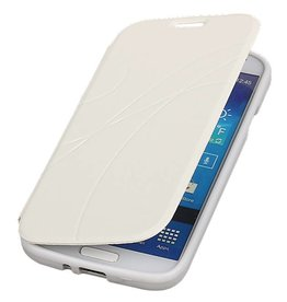 Easy Booktype hoesje voor Galaxy S4 i9500 Wit