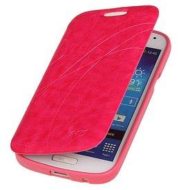 Easy Booktype hoesje voor Galaxy S4 mini i9190 Roze