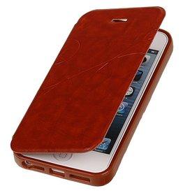 Easy Booktype hoesje voor iPhone 5 / 5S Bruin