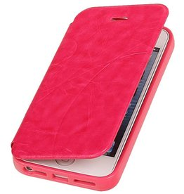 Easy Booktype hoesje voor iPhone 5 / 5S Roze