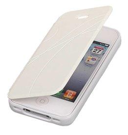 Easy Booktype hoesje voor iPhone 4 Wit