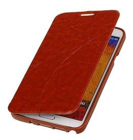 Easy Booktype hoesje voor Galaxy Grand 2 SM-G7106 Bruin
