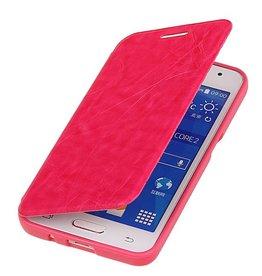 Easy Booktype hoesje voor Huawei Ascend G610 Roze