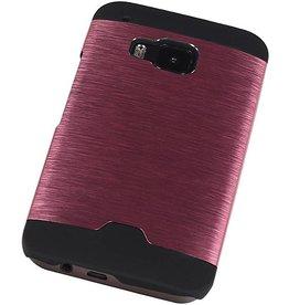 Lichte Aluminium Hardcase voor HTC One M9 Roze