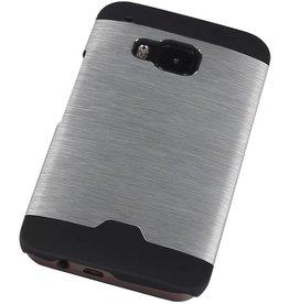 Lichte Aluminium Hardcase voor HTC One M9 Zilver
