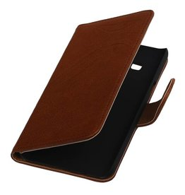 Washed Leer Bookstyle Hoes voor Samsung Z1 Z130H Bruin