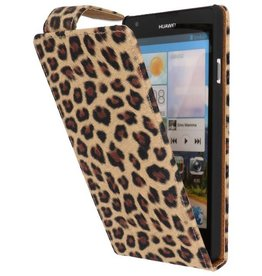 Luipaard Classic Flip Case Hoes voor Huawei Ascend G700 Chita