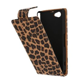 Luipaard Classic Flip Case Hoes voor Sony Xperia Z1 Compact Chita