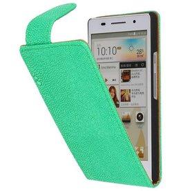 Devil Classic Flip Hoes voor Huawei Ascend P6 Groen