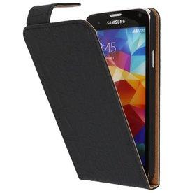 Krokodil Classic Flip Hoesje voor Galaxy S5 Zwart