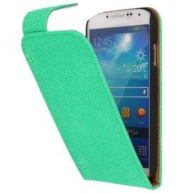 Devil Classic Flip Hoes voor Galaxy S4 i9500 Groen