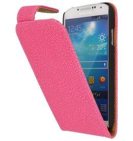 Devil Classic Flip Hoes voor Galaxy S4 i9500 Roze