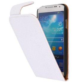Devil Classic Flip Hoes voor Galaxy S4 i9500 Wit