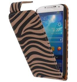 Zebra Classic Flipcase Hoes voor Galaxy S4 i9500 Grijs