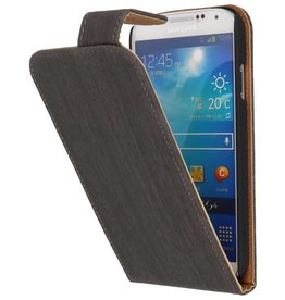 Wood Classic Flip Hoes voor Galaxy S4 i9500 Grijs