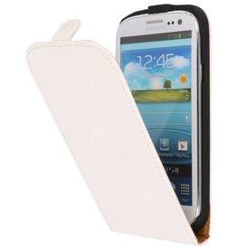 Flipcase Hoesje voor Galaxy S3 i9300 Wit