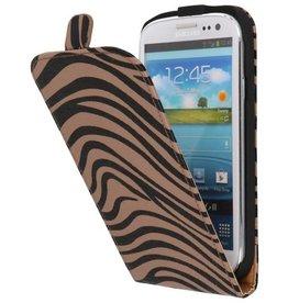 Zebra Flip Hoesje voor Galaxy S3 i9300 Grijs