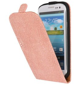 Devil Flip Hoesje voor Galaxy S3 i9300 Licht Roze