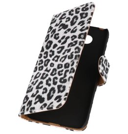Luipaard Bookstyle Wallet Case Hoes voor LG G5 Wit