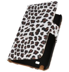Luipaard Bookstyle Hoes voor Galaxy Note i9220 N7000 Bruin