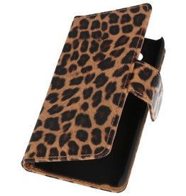 Luipaard Bookstyle Hoes voor Galaxy S Advance i9070 Chita