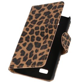Luipaard Bookstyle Hoes voor LG Joy H220 Chita